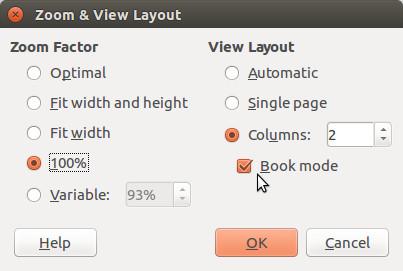 LibreOffice's Zoom DIalog